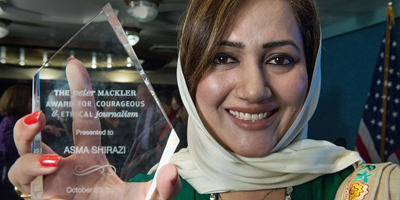 Asma dedicates award to 'unsung heroes' of Pakistani journalism